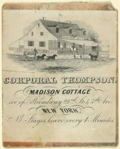 Corporal Thompson's Madison Cottage ca. 1850.