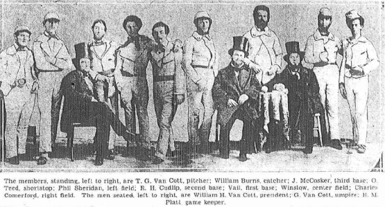 The Gotham Base Ball Club of 1855: the first surviving photograph of a baseball team.