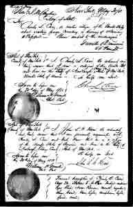 Charles L. Case, passport application, 1850