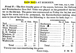 Spirit of the Times, July 9, 1853; note Lalor
