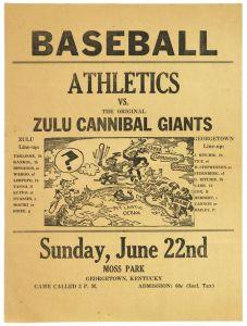 1934-37 Athletics vs. Zulu Cannibal Giants