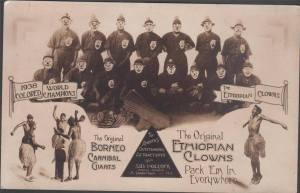 1938 Ethiopian Clowns and Borneo Cannibal Giants