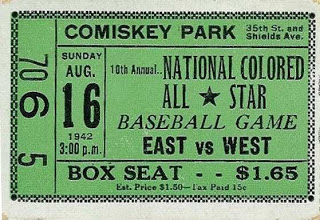 1942 East-West All Star Game Ticket