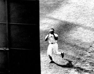 "Willie Mays, ""The Catch""--from CF."