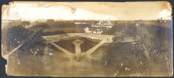 12. Bird's-eye view of baseball game, Detroit at Chicago, October 1908; photographer unknown, Detroit Public Library.