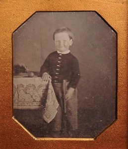 Boy with Ball; 1850s Daguerreotype