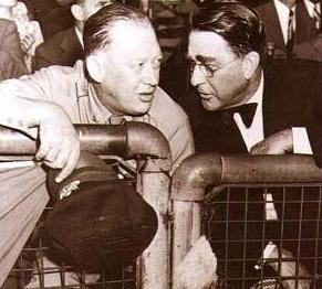 Branch Rickey (r.) with Larry MacPhail