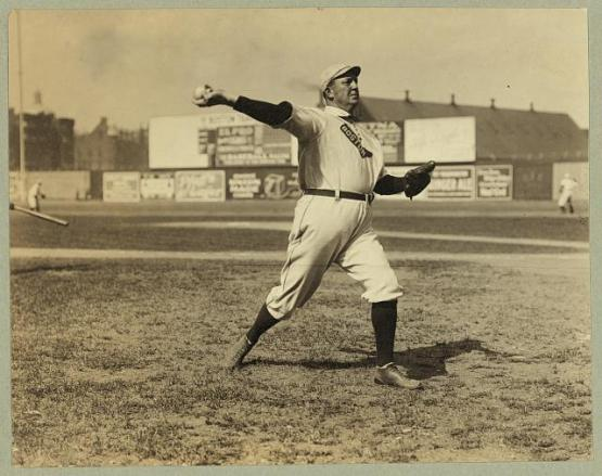 13.  Cy Young, fat and forty but still a star; George Grantham Bain Collection, LOC.