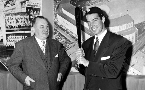 George Weiss and Joe DiMaggio