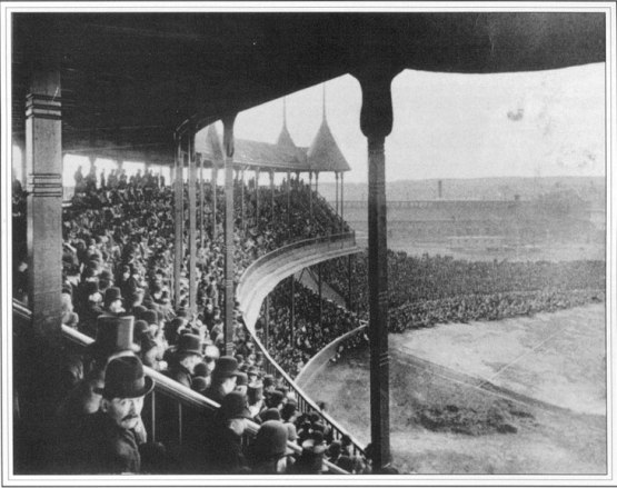 17. Opening Day of the Grand Pavilion of South End Grounds, Boston, May 25, 1888; photographer by Augustine H. Folsom.