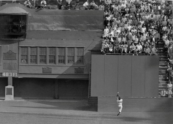 7. The Catch, Willie Mays, Game One, World Series, September 29, 1954; Frank Hurley, New York Daily News.