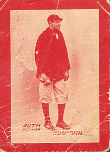 1914 Baltimore News Babe Ruth card