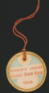 "1918 World Series press ""pin."""