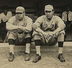 Babe Ruth with Ernie Shore.