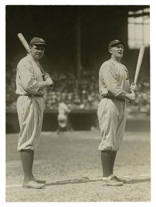 Babe Ruth and Ty Cobb, 1920.