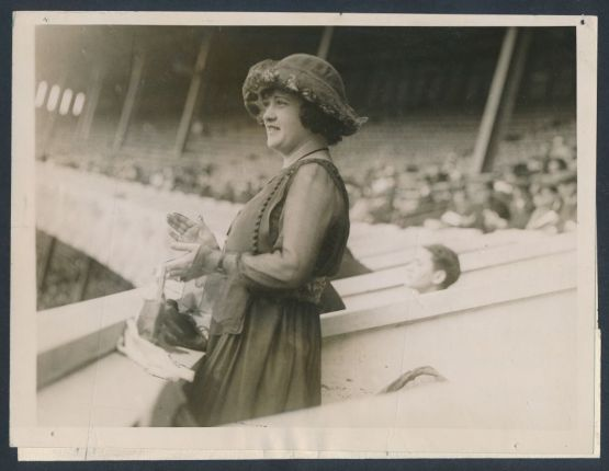 Helen Woodford Ruth, at the ballpark.