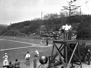 Televising game between Princeton and Columbia, 1939