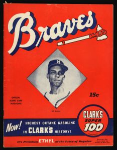 1953 Milwaukee Braves Program, with Billy Bruton