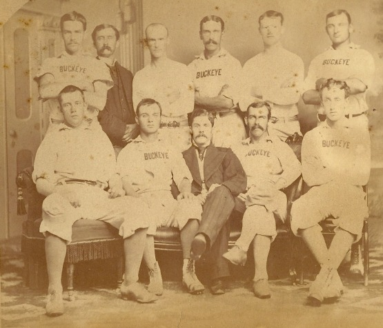Columbus Buckeyes, 1876; Nolan stands second from right