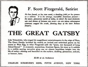 Ad for The Great Gatsby