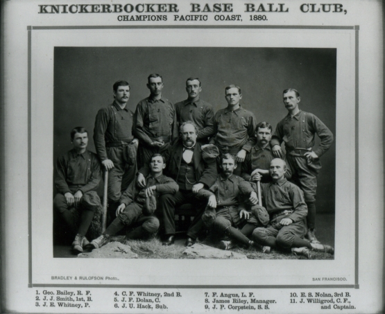 Knickerbocker of San Francisco 1880; Nolan second row at right (#10)