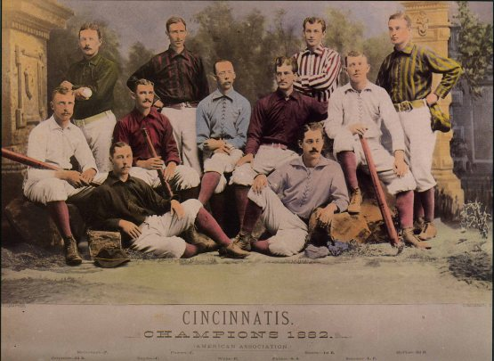 Cincinnati Reds of 1882; the American Association went along with the NL idea.