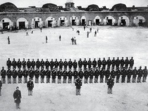 Civil War Baseball at Fort Pulaski; Savannah, Georgia.