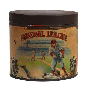 Federal League Tobacco Tin