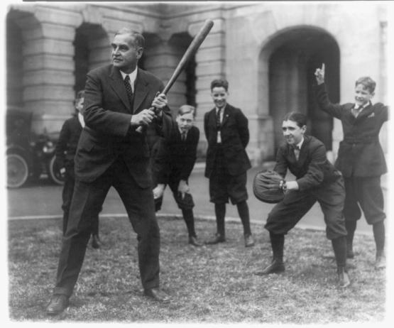 George Wharton Pepper at the bat