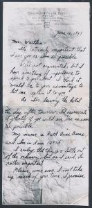 Letter to Waitkus, Ruth Sternhagen
