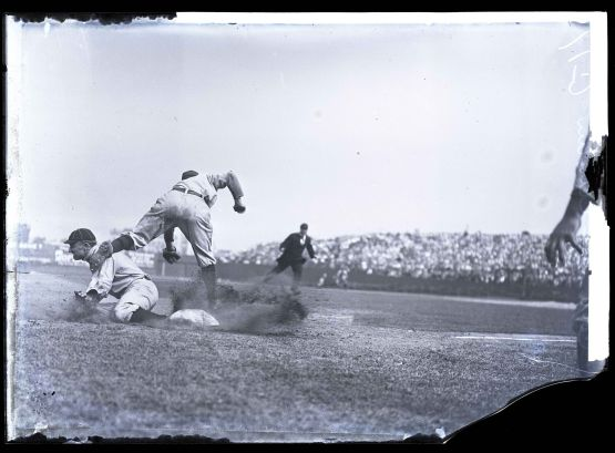 Ty Cobb sliding into Jimmy Austin