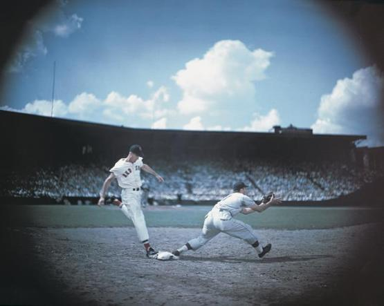 Ted Williams at Fenway Park, ca. 1946