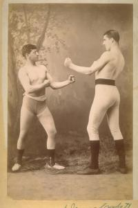Jim Corbett (right) and Abe Attell (yes).