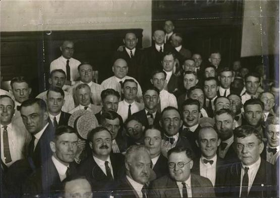 Black Sox and Jurors and Gamblers, post-acquittal, 1921