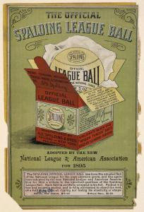 1895 Spalding League Ball