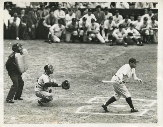Babe Ruth Homers off Walter Johnson, 1942
