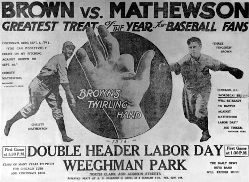 Brown vs. Mathewson, the last hurrah