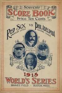 1915 World Seies program