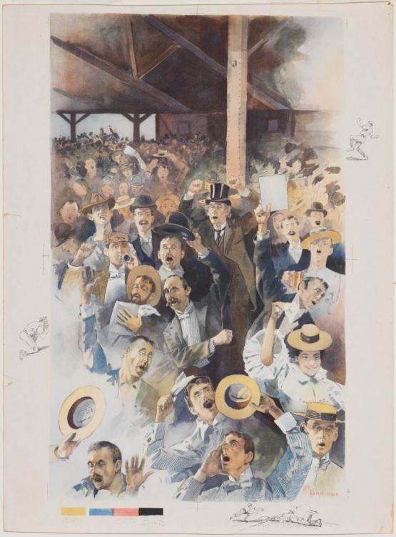 3. Jay Hambidge, Crowd at the Polo Grounds, 1895