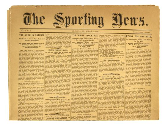 1886 The Sporting News First Issue