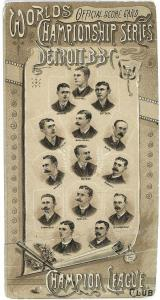 1887 World Series Program with Detroit