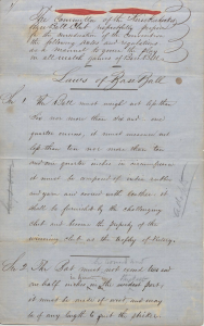 Laws of Baseball, KBBC to Convention, January 22, 1857, page 1
