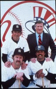 Clockwise: Martin, Steinbrenner, Jackson, Munson