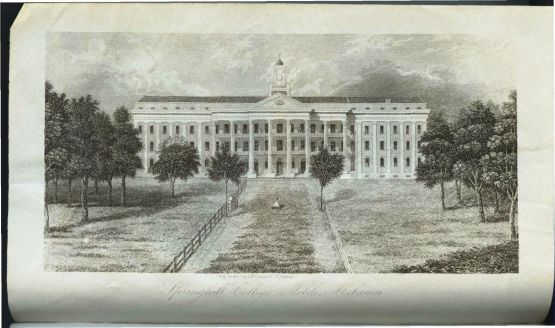 Spring Hill College 1858; engraving by J. T. Hammond.