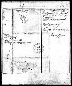 Envelope for Wadsworth's West Point Application Envelope