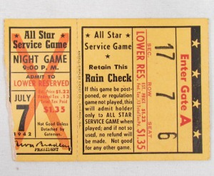 All Star Service Game, July 7, 1942