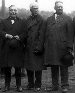 Ruppert, Landis, Huston (l-r)