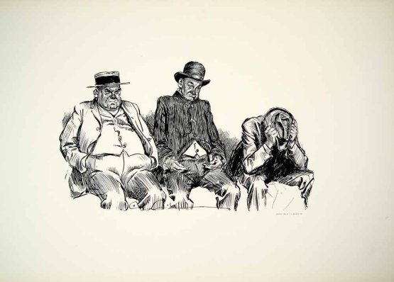 Fanned Out, Charles Dana Gibson
