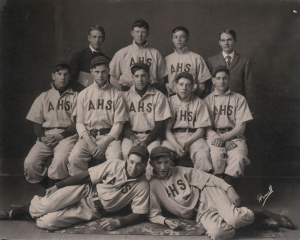 Ike at Abilene High School; top row, second from right