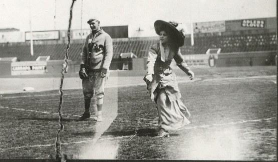 Ida Schnall with Rube Marquard, ca. 1913